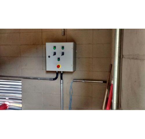 Instalação Elétrica do Quadro de Comando do Sistema de Combate a Incêndio c/ Motor a Diesel no Litoral Sul em Santos